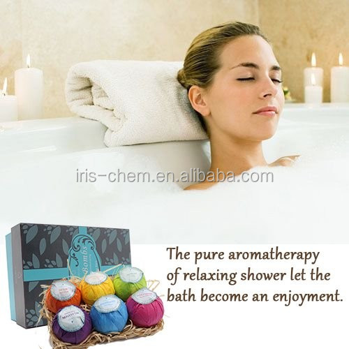 Attractive coloful bath bombs shea butter herbal esence bath fizzer personal care