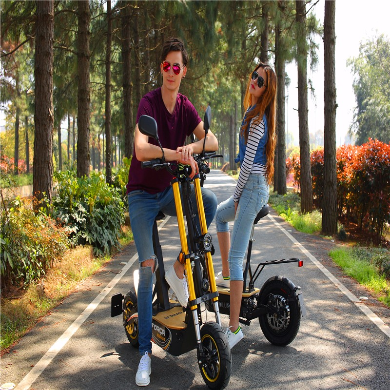 2000W Green Power Adult Electric brushless scooter with a seat electric scooter