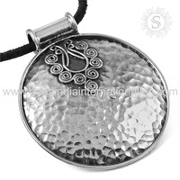 Scrumptious Plain Silver Pendant Jewelry Online 925 Sterling Silver Jewelry Exporters