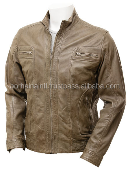 China Cheap Mens PU Leather Jacket Motorcycle Jackets