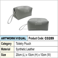 PU Leather toiletry pouch
