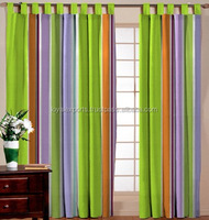 Indian beaded valance curtain / Horse print curtains / Luxury curtains for living