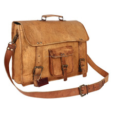 Travel Satchel Flight Bag ,Large Leather Messenger Bag made In India.