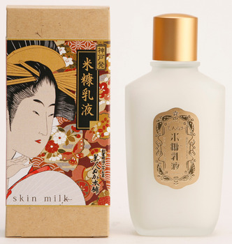 100 year cosmetics Rice Bran Skin Milk 100mL(ukiyoe package) Made in Japan
