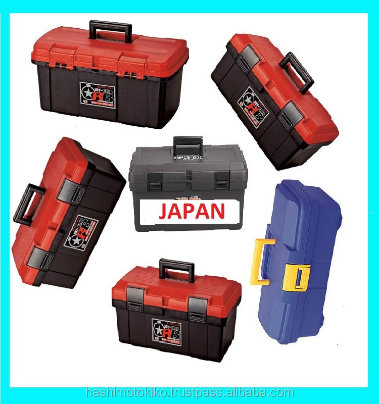 High storage capacity japanese high quality plastic hard tool case