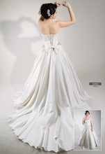 Wedding dress Satin Taffeta pearl and stone embroidered belt
