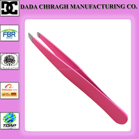Professional high quality stainless steel eyebrow tweezers pink tweezers