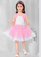 Wholesale lovely kids wear net summer frock design for baby - Kid party wear dress - Baby wholesale clothing