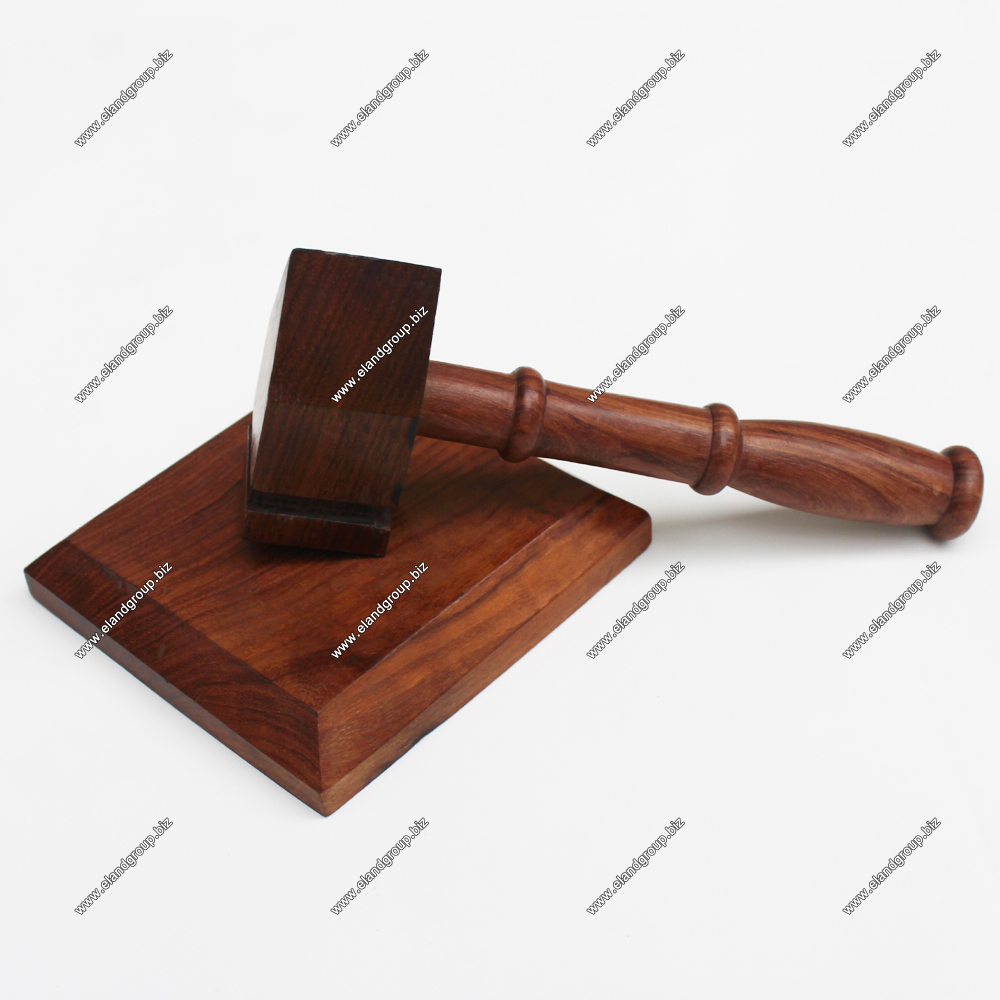 Wooden Gavel & Sound Block for Judge Auction Sale