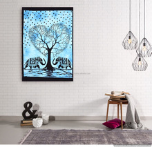 Indian Handmdae 2017 Tree Of Life Ethnic Hippie Decor Yoga Mat Table Wall Hanging Tapestries Cover Indian Art Tapestry Throw