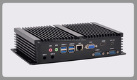 Mini Computer Fanless Mini PC Win10 Core i3 4030Y Dual LAN 6*RS232 industrial PC Rugged PC