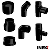 High quality, HDPE, injected pipe fittings