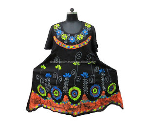 Indian printed Umbrella Dress clothing factory in India cotton umbrella dress Sleeveless Summer Dress
