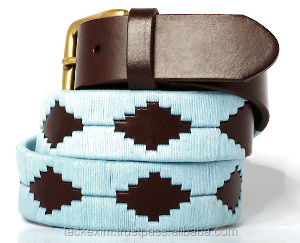 Argentinean belts with embroidered leather