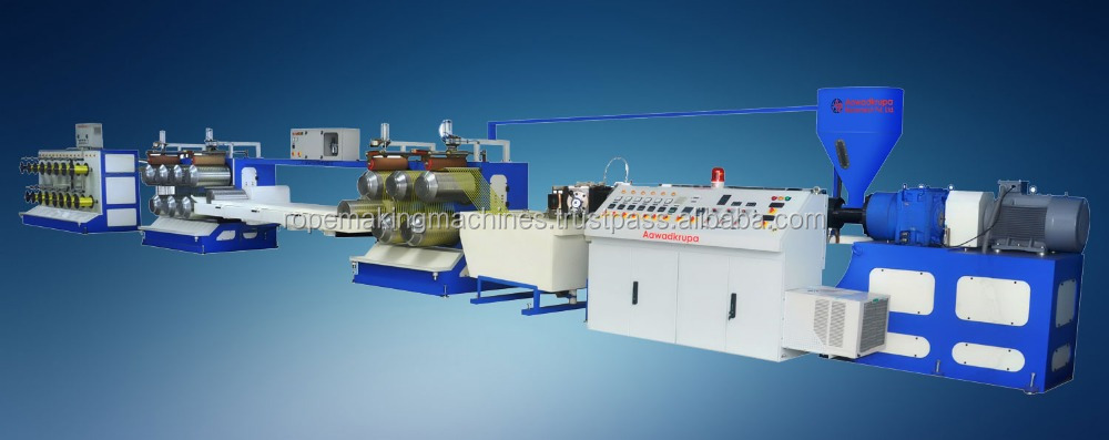 plastic baler twine fibre making machine/pp hdpe rope fishing net round yarn extruder line