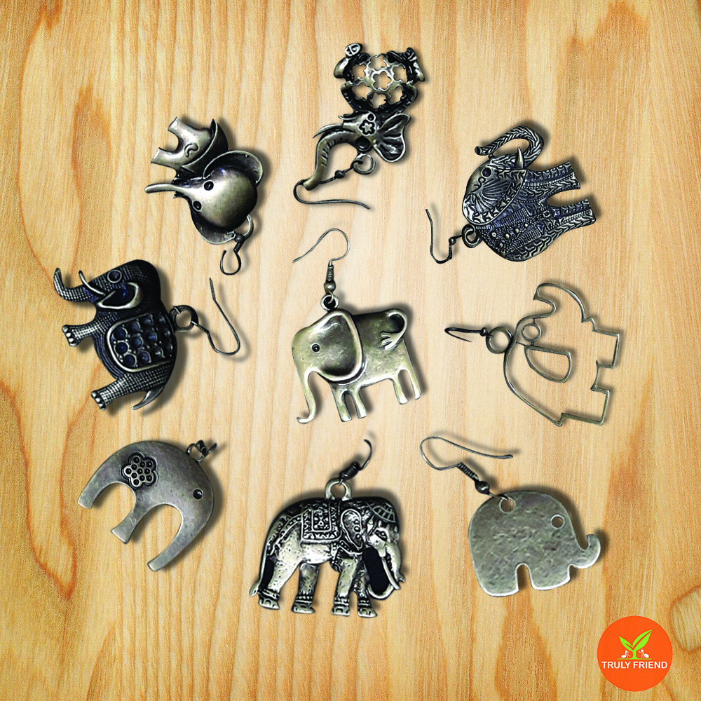 New 2017 latest brass earring designs and elephant earring and natural leaf wood fretwork earrings