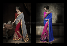 Designer party wear heavy brdail saree or normal wear saree and lehenga saree for this wedding season