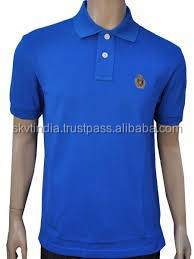 100% cotton combed organic cotton polo t shirt