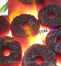 Odorless coconut shell charcoal briquttes