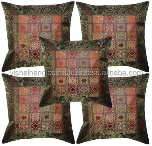 christmas Silk jacquards traditional cushion covers