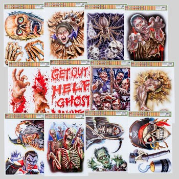 WINDOW CLING HALLOWEEN HORROR 12AST 2014 STYLES 4C PRINT #G89896N