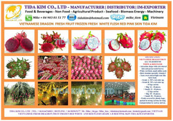 WHITE RED DRAGON FRUIT - IQF USED - BIRD CHILI - MULBERRY - TIDA KIM ORIGIN PRODUCTION - NATURAL 100% PURE VIETNAM
