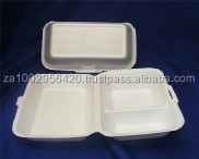 Polystyrene Foam Box no 40 : Dinner Box 2 division