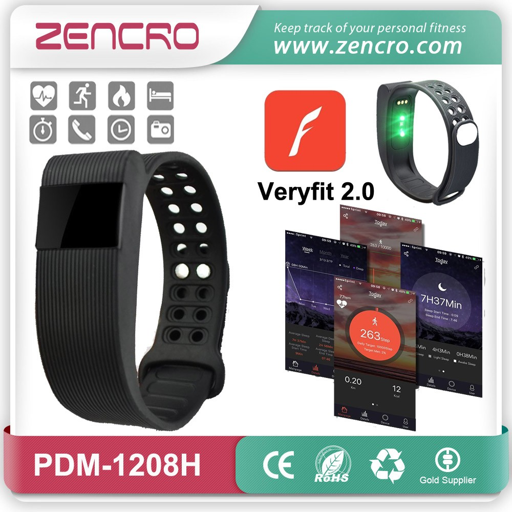 2016 Zencro Newest Arrival Bluetooth 4.0 Fitbit Heart Rate Smart Bracelet Activity Tracker Pedometer