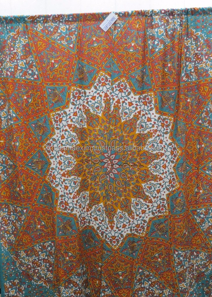 Bohemian Mandala Curtains Hippie Tapestry Indian Curtains Boho Decor Window Curtain
