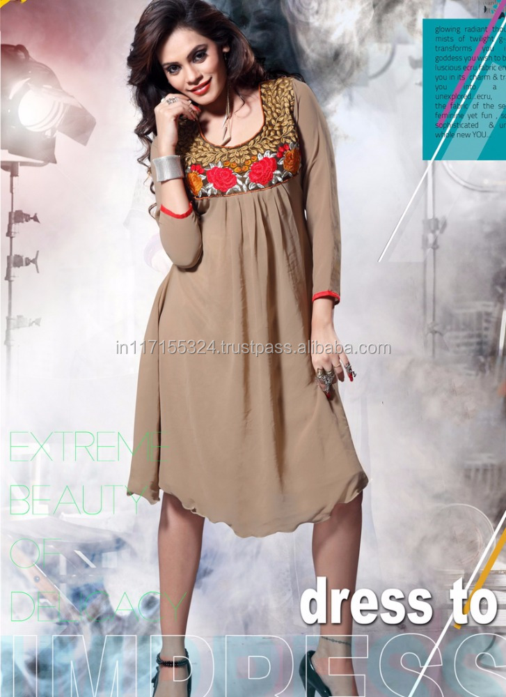 Wholesale fashion new neck designs of kurtis - Designer fancy kurti - All types of kurtis