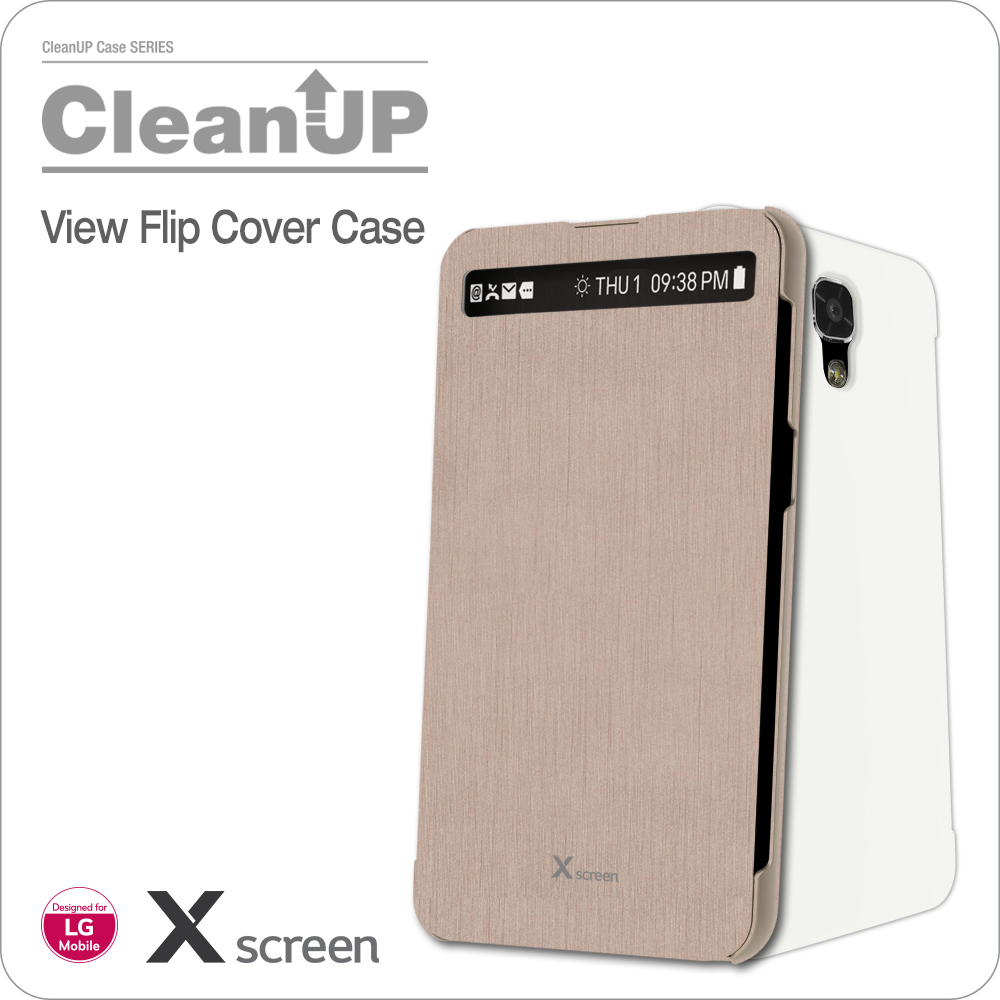 VOIA for LG X Screen CleanUP Flip Cover