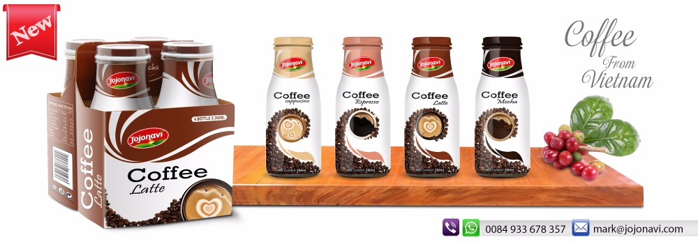 Coffee Espresso HALAL,KOSHER,HACCP,ISO,FDA Certification Coffee drink Exporters for bottle 280ml