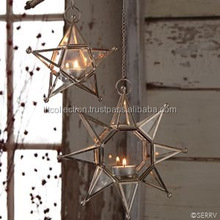 Hanging Star Shaped Lanterns, Black and brass lanterns new designs,New Shape