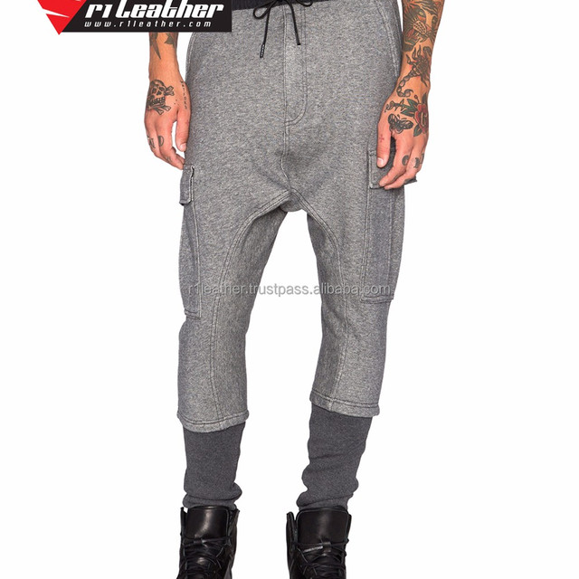 Grey color Custom Men Baggy Sweatpant Slimfit Harem Pants Jogger Sweatpants