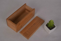 Unfinished Wooden Pencil, Pen, Trinket Storage Box with Slide Top
