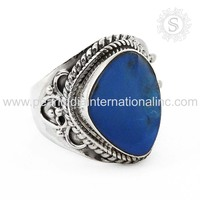 Shining blue opal ring 925 sterling silver jewelry manufacturer natural gemstone silver jewellery india
