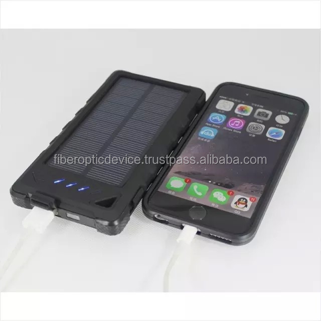8000mAh Solar Charger External Backup Power Pack Waterproof Dustproof Solar Power Bank for Smartphones Ipad Tablet Pc