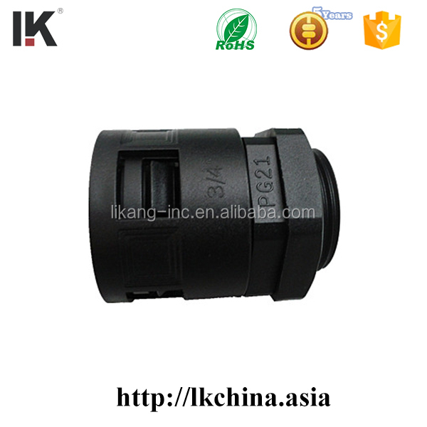 Black PA PE plastic corrugated tube/pipe/hose for cable