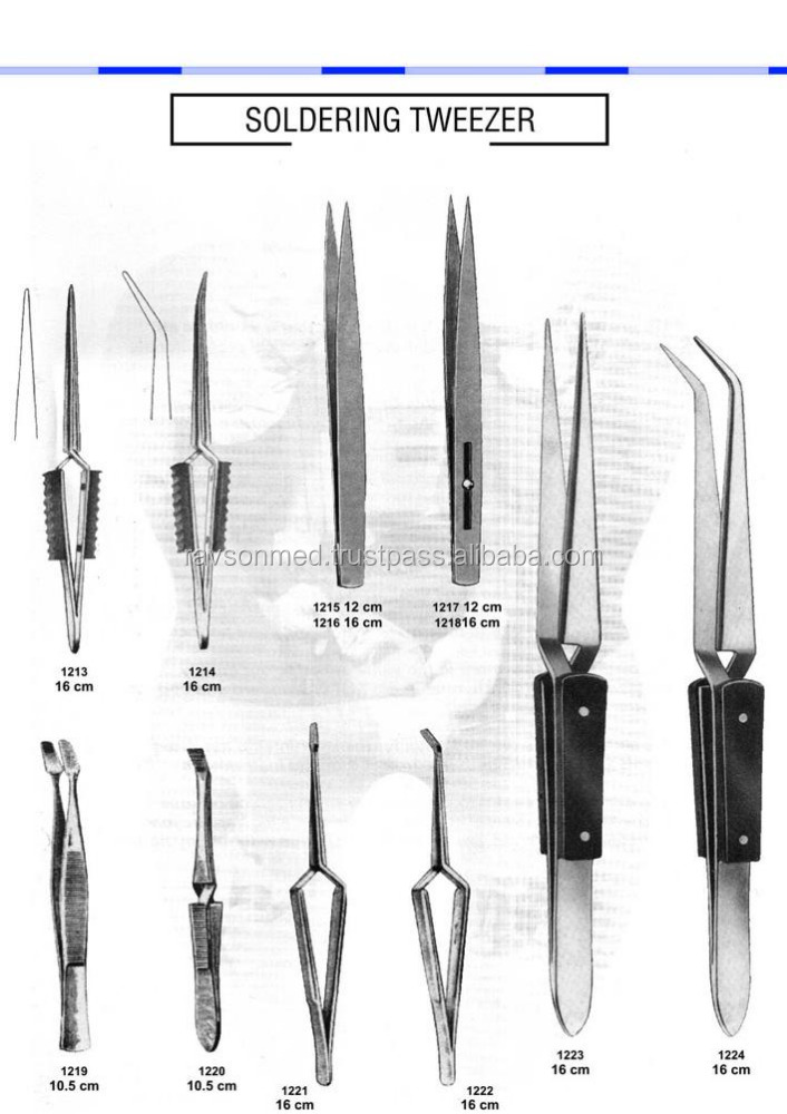 Get 20 % Discount on 2017 New Arrivals Dental instruments Soldering Tweezers Exporters & Providers with paypal secure Payments