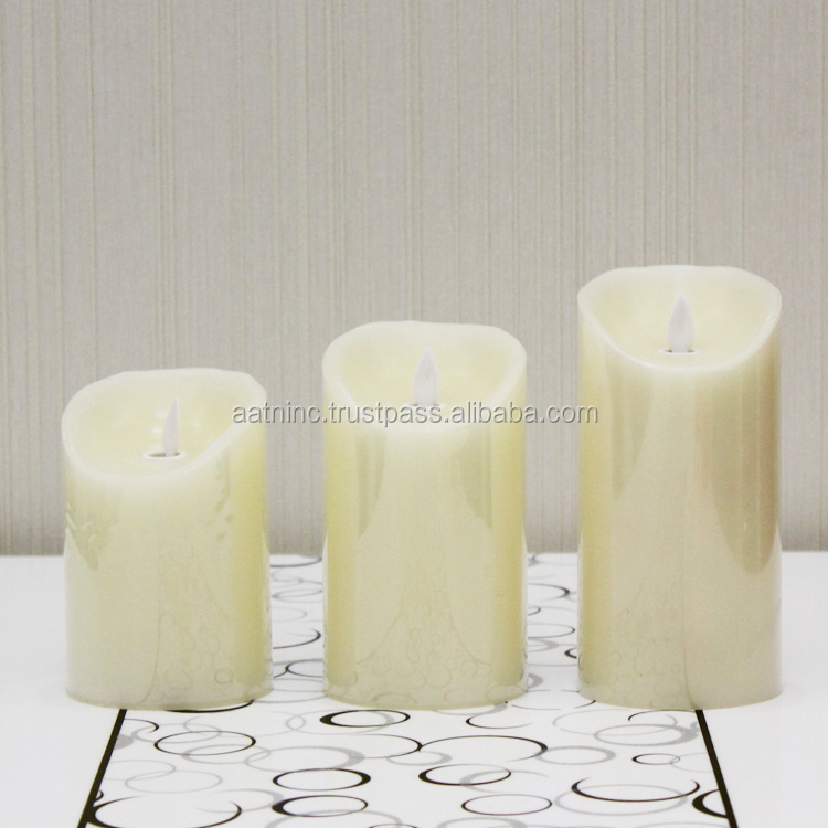 Paraffin wax led candle light