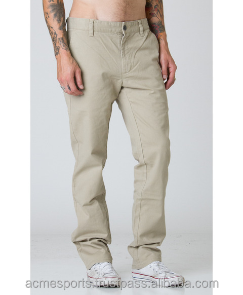 oem fancy chino pants - Boys fashion custom made trousers khaki navy chino jogger pants
