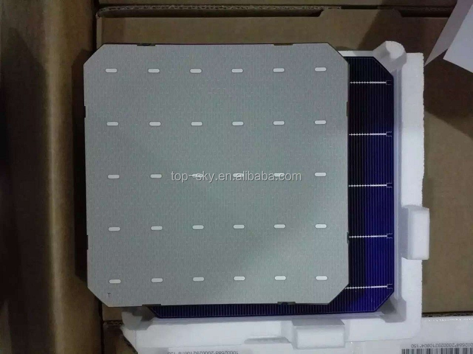 156*156mm Size and Monocrystalline Silicon Material Wholesale Germany 6x6 mono solar cell price for solar panel plant DIY solar