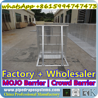 hot dip galvanized and powder coating crowd control barrier/pedestrian triffic safty guard metal barricade