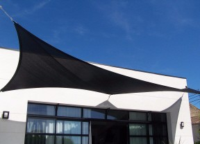 UV Block Fabric Patio Shade Sail in black color