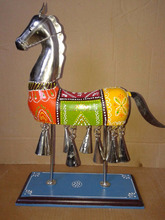 Iron Painted Horse with Bell