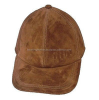 New Men's Genuine Brown Matte leather Hat / Baseball Cap / Golf Cap