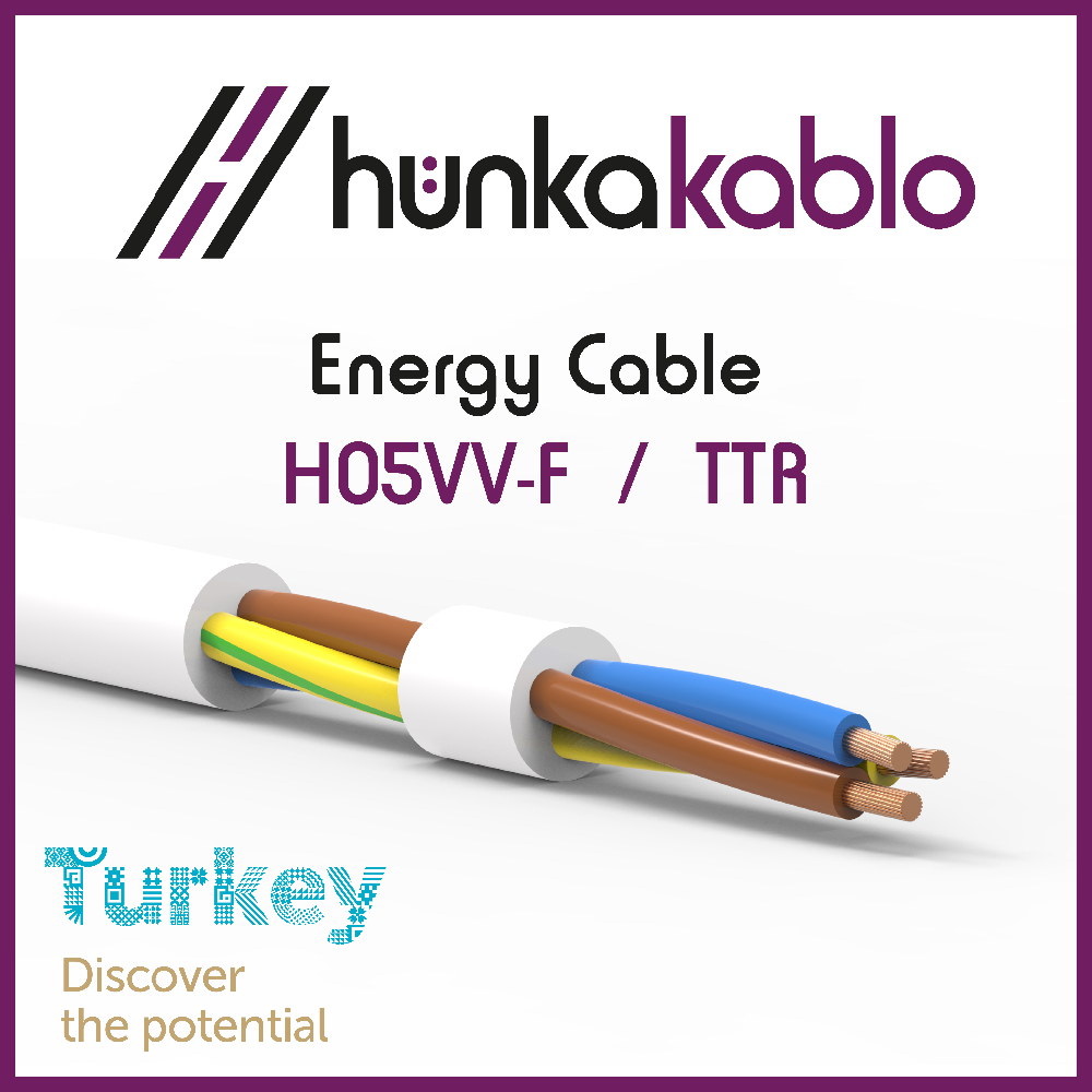PVC Insulation H05VV-F Energy Cable