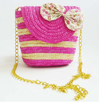 Colorful starw bags with bowknot /chain belt