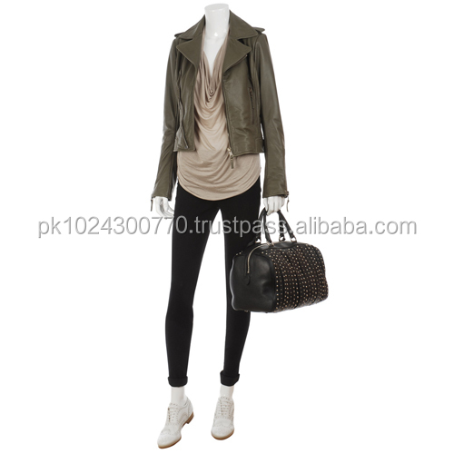 new fashion women leather jacket/summer season sexy leather jacket