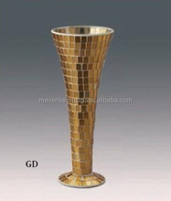 New!! Trumpet Vase For Wedding Centerpice, Gold Fluted Vase